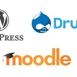 Actualizaciones críticas de WordPress, Drupal y Moodle
